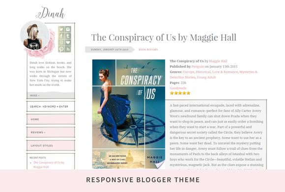 Dinah Responsive Blogger Theme