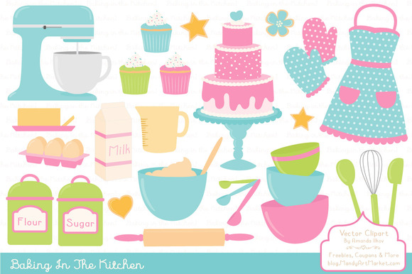 Bright Fresh Baking Clipart