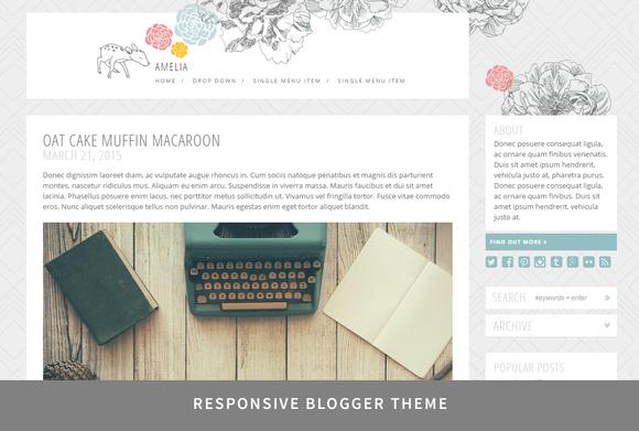 Amelia Responsive Blogger Theme