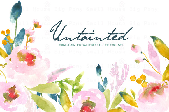 Untainted Watercolor Clip Art
