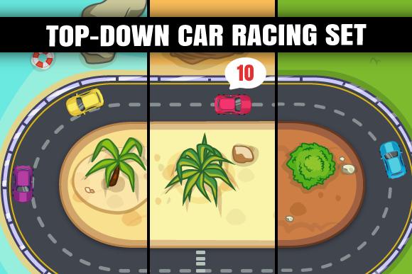 Top Down Car Racing Set