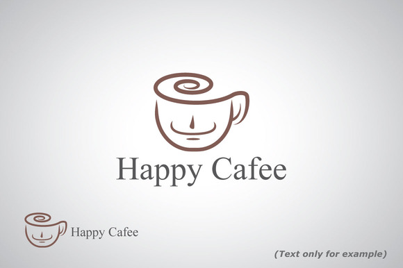 Happy Cafe Logo Template