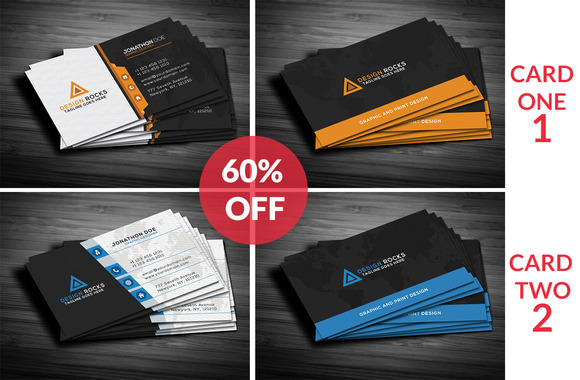 Modern BusinessCards Bundle 60% Off