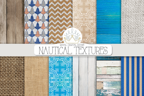 NAUTICAL TEXTURES Digital Paper