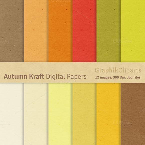 Autumn Kraft Digital Papers