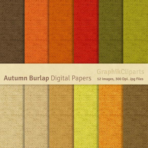 Autumn Burlap Digital Papers