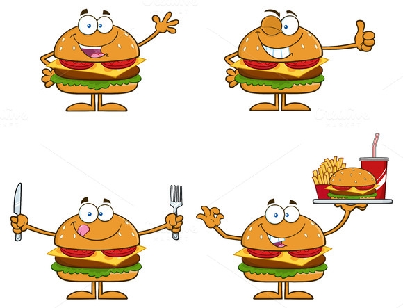 Hamburger Character Collection 1