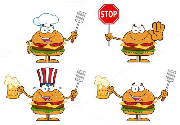 Hamburger Character Collection 4