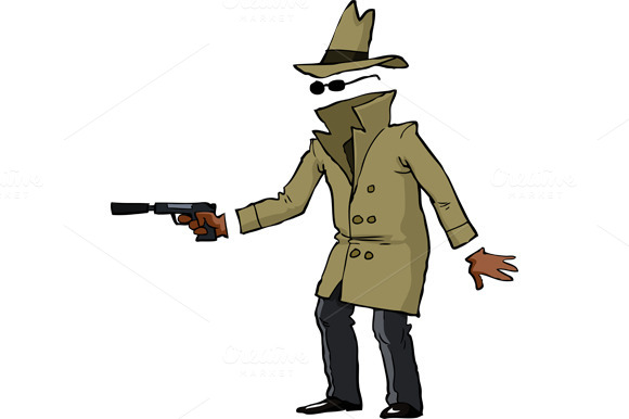 Invisible Spy With A Gun