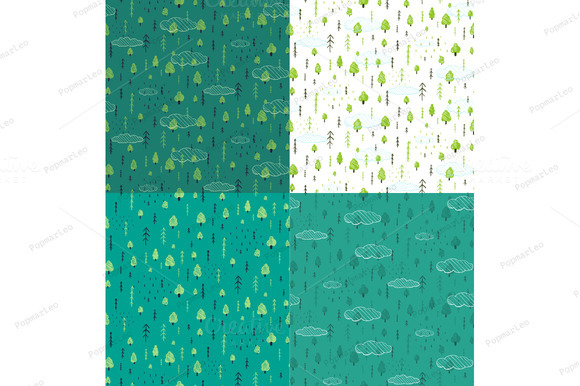 Wild Forest Drawn Seamless Pattern