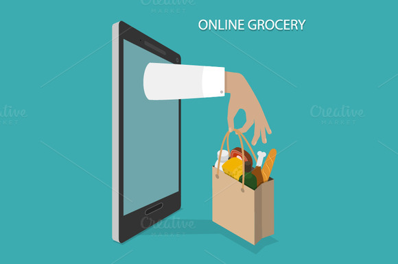 Online Grocery Ordering Concept