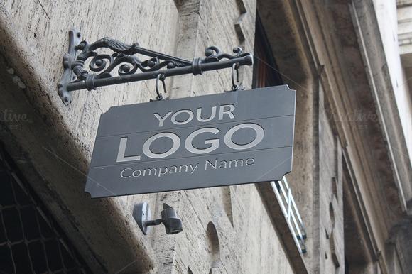 Logo Mock Up Exterior Sign