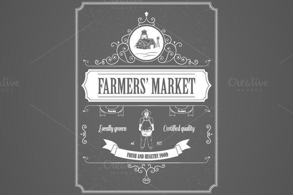 Farmers Market Advertisement Posters