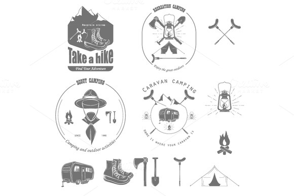 Outdoor Recreation Badge Set