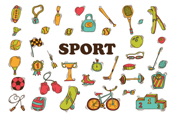Hand Drawn Sport Icon Set