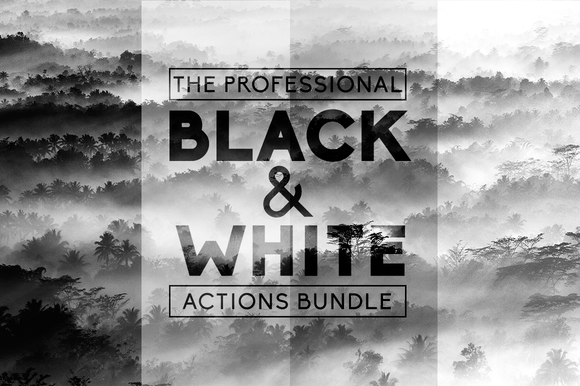 Black White Pro Actions Bundle