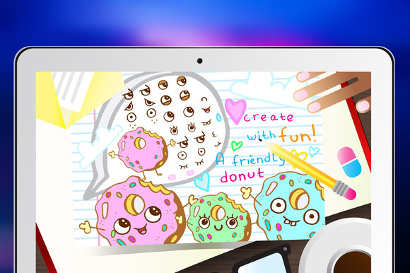 Create-Your-Own-Donut Vector Set