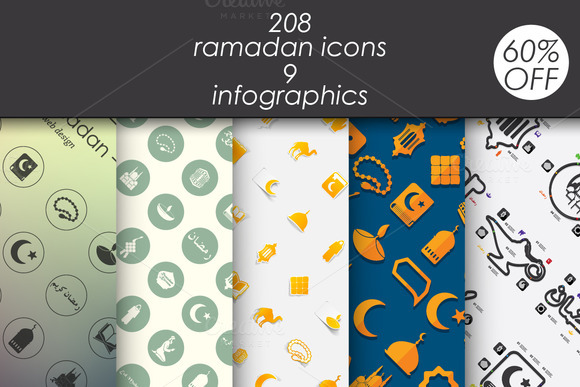 Ramadan 208 Icons 9 Infographics