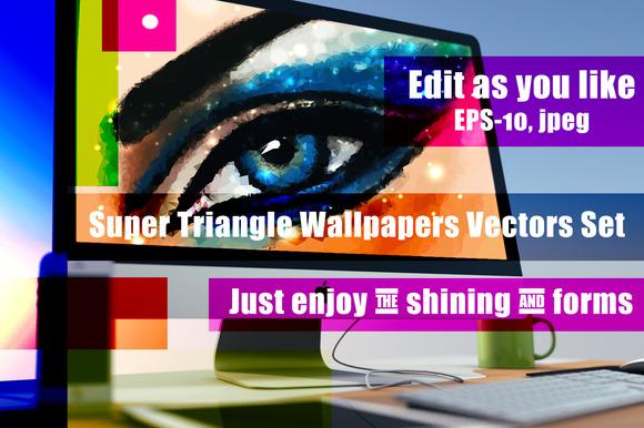 Triange Time Set Of Images EPS-10