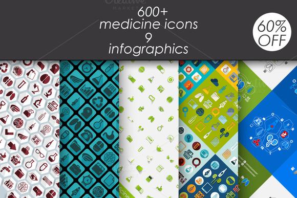 Medicine 600 Icons 9 Infographic