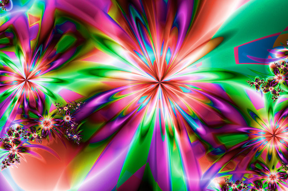 Fractal Flower Digital Artwork