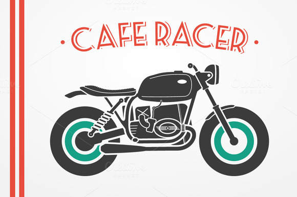 Cafe Racer Motorcycle Set