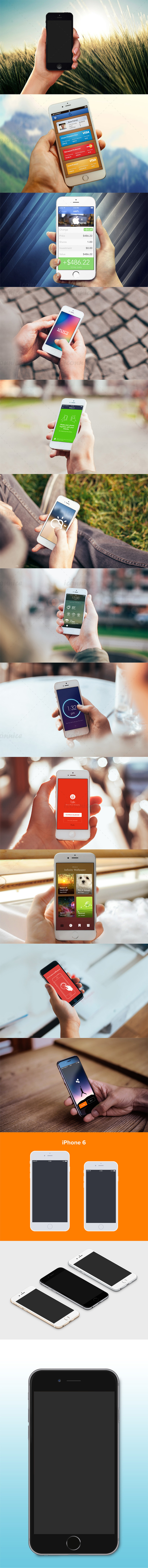 IPhone Holding Hand Mockup Template