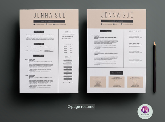 2-page Resume Template