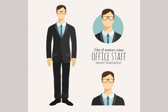 Young Businessman In Flat Style