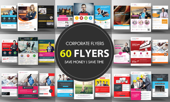 60 Corporate Business Flyers Bundle