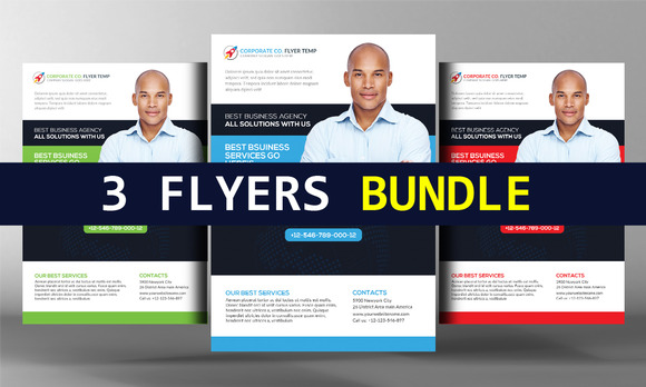 3 Corporate Business Flyers Bundle