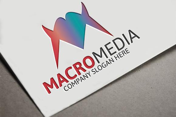 Macro Media M Letter Logo