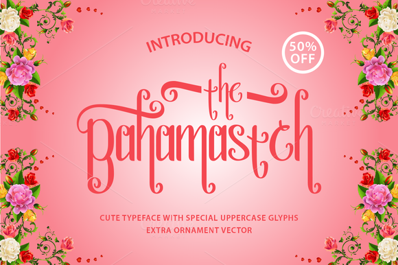 Bahamastch Cute Typeface 50% OFF
