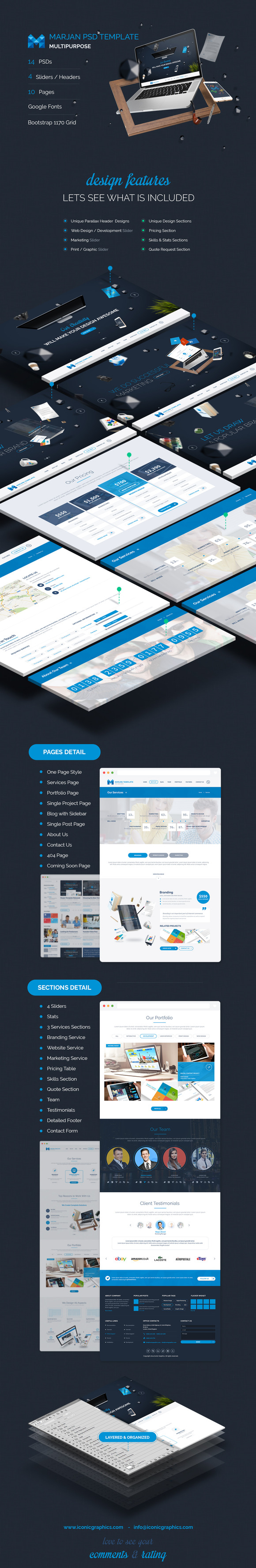 Marjan Multipupose PSD Template