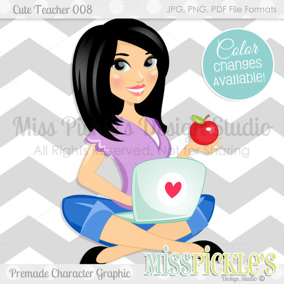 Cute Teacher 008 Health Blogger
