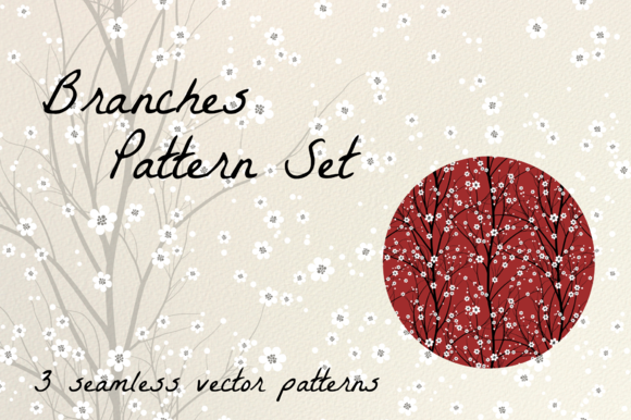 Branches Seamless Vector Set