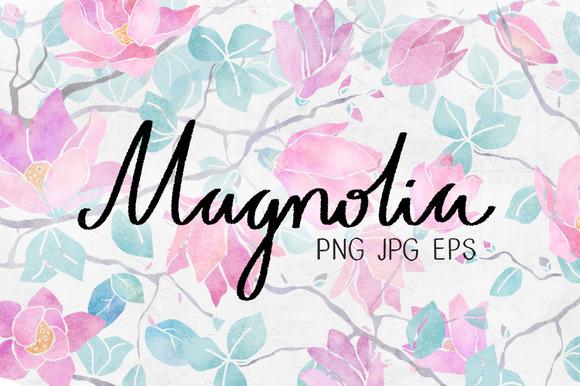 Magnolia Watercolor Set