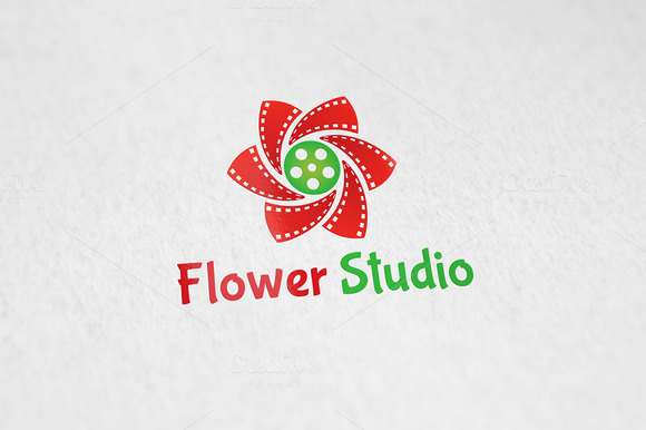 Flower Studio Logo Template