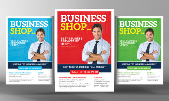 4 Corporate Business Flyers Bundle