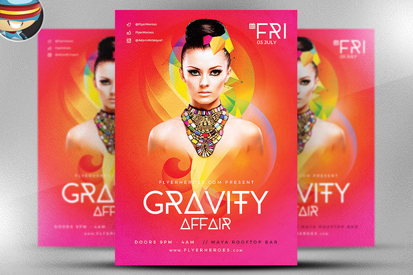 Gravity Affair Flyer Template