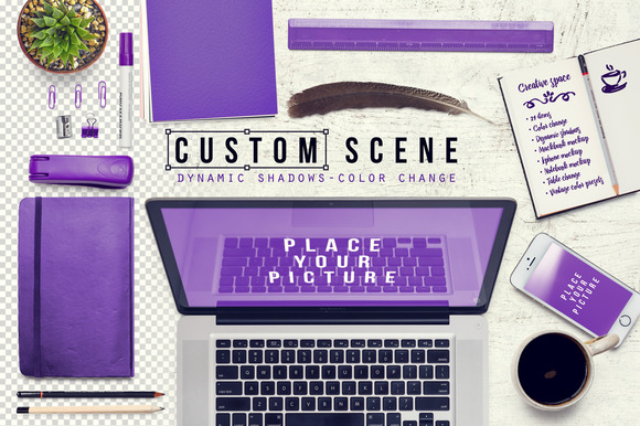 Custom Scene Desktop Mockup