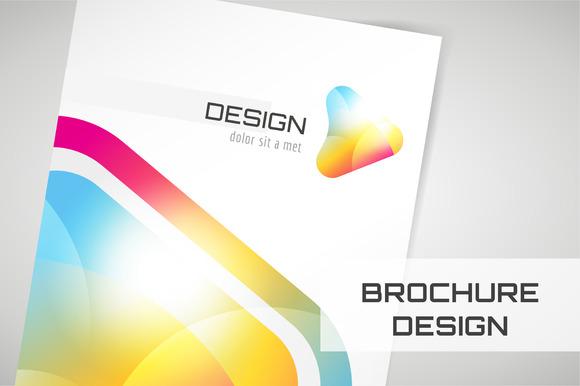 Vector Brochure Template Abstract