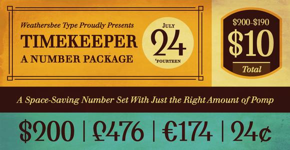 Timekeeper Number Symbol Font