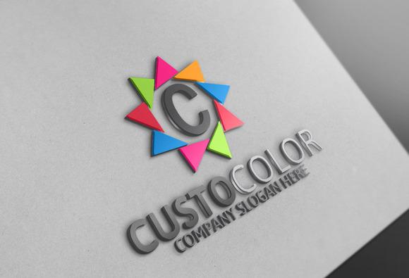 Custo Color C Letter Logo