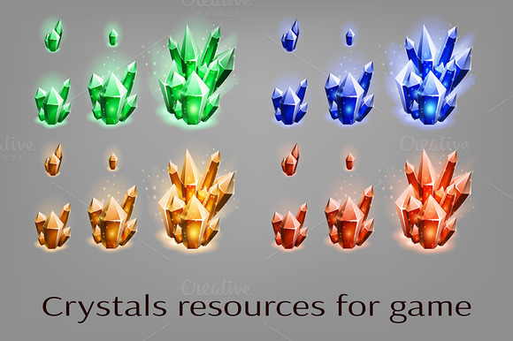 Crystals Resources For Game