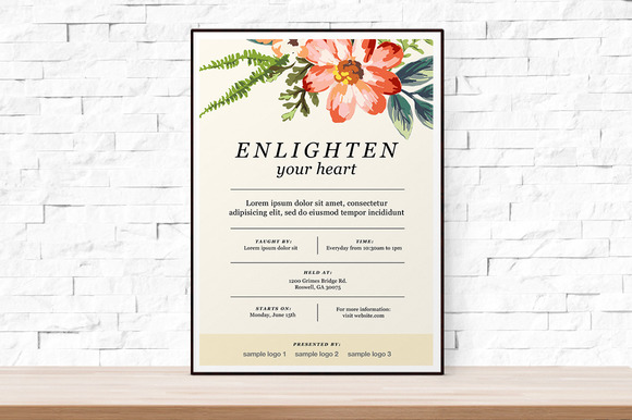 Floral Event Flyer Template PSD