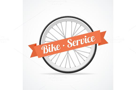 Vector Bike Service Card
