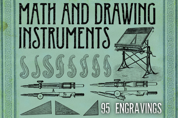 MATH DRAWING INSTRUMENTS 4 BONUS