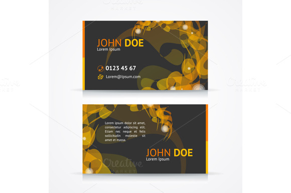 Vector Geometric Business Card