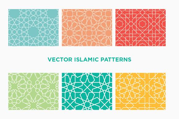 6 Vector Islamic Geometric Patterns